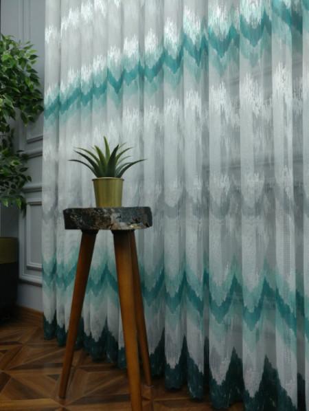 prugasta tirkizno zelena zavesa