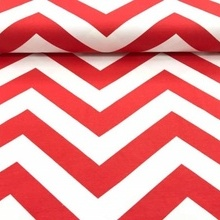 Pamučno platno crveno belo col.1