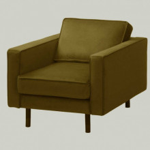 Fotelja presvucena plisem