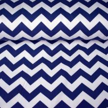 Pamučno platno plavo belo zik - zak