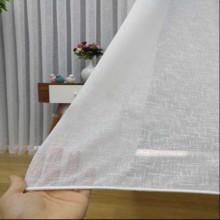 Zavesa Lanena bela