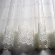 Zavesa sa čipkom til bela 1001