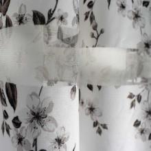 Zavesa bela print sa poprečnim prugama