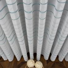 lanena duga zavesa bela