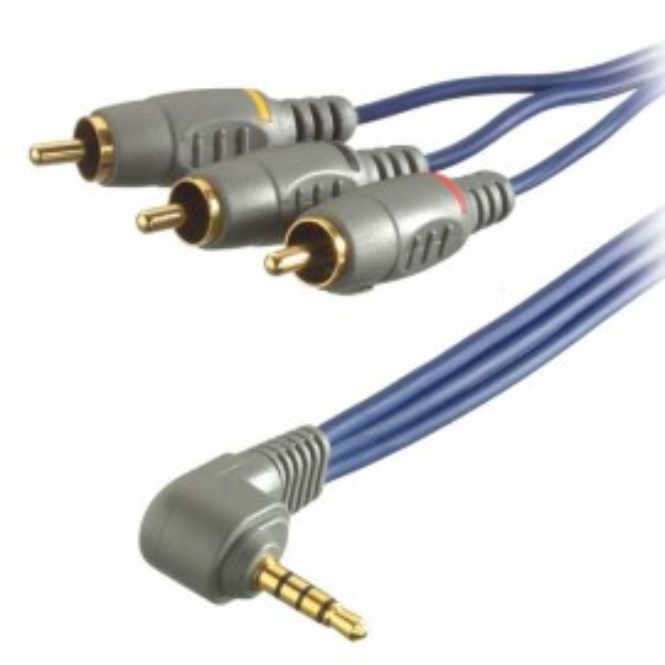 Slika Vivanco Camcorder Golden Connection Cable 2m