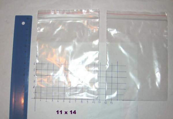 Slika ZIP kesice sa patent zatvaračem (110mm x 140mm, 100 komada)