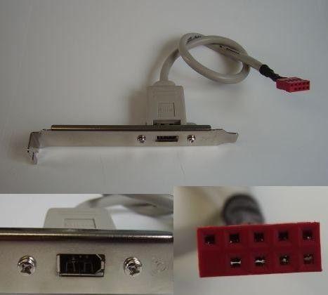 Rear Bracket 1 x 1394 (FireWire, 6-Pin)