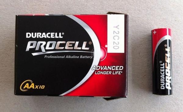 Slika Duracell Procell 10xAA (industrijske alkalne baterije)