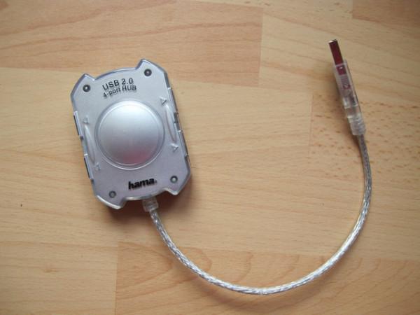 Slika Hama 4-port Portable USB Hub 1:4 (silver, 4 x USB)