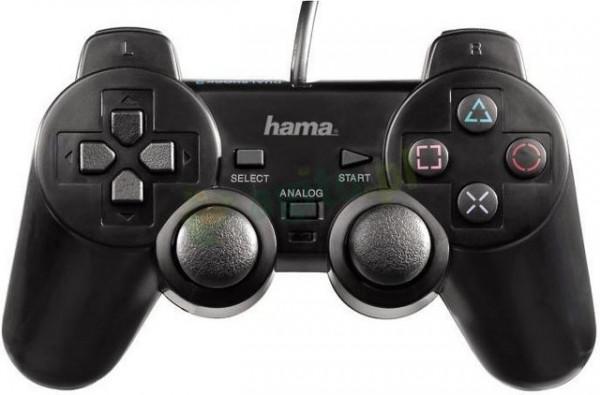 Slika Hama BlackForce USB Gamepad (dual analog stick 360°, dual vibration)