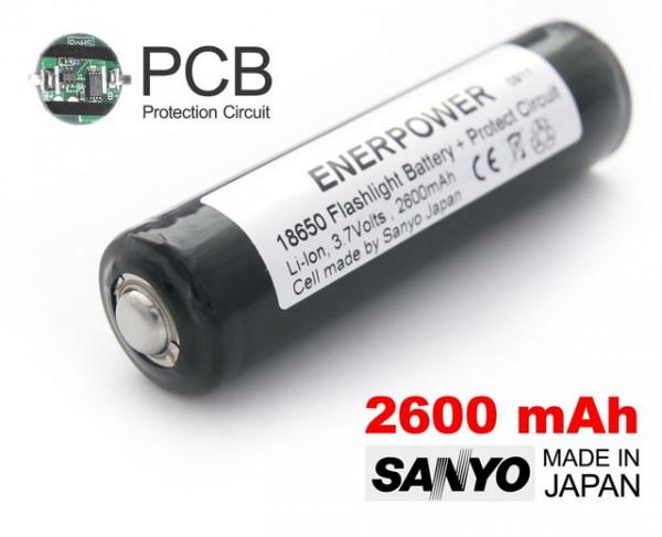 Slika Enerpower 2600mAh 18650 Li-Ion PCB Protected