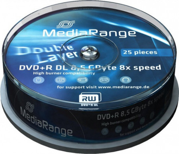 Slika MediaRange Germany Double Layer DVD+R 8.5GB 8X