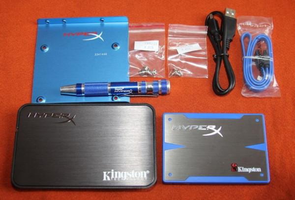 """Slika Kingston HyperX SSD 2.5"""" SATA III 6.0 Gb/s Upgrade Bundle Kit"""