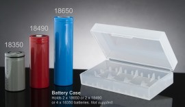 Slika Plastična kutijica za dve 18650 baterije (2x18650)