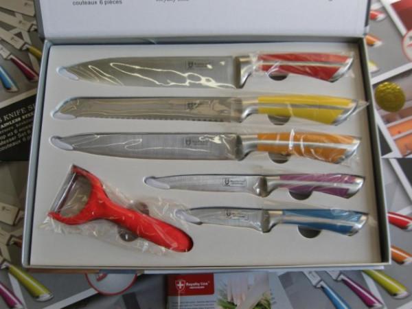 Slika Royalty Line Switzerland - RL-SS601 - Set visoko kvalitetnih 5+1 čeličnih kuhinjskih noževa
