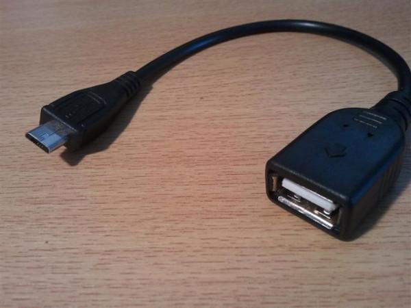 Slika USB 2.0 Micro 5-pin to USB Female OTG Data Host Cable (za mobilni telefon/tablet)