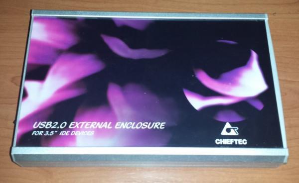"""Slika Chieftec USB 2.0 External Aluminium Enclosure For 3.5"""" IDE Devices"""