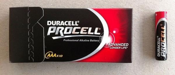 Slika Duracell Procell 10xAAA (industrijske alkalne baterije)
