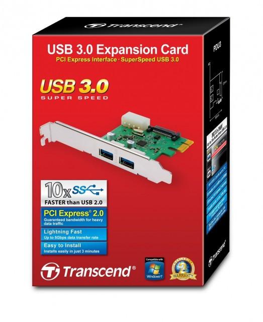 Slika Transcend 2 Ports USB 3.0 PCI-E Express Card (TS-PDU3)