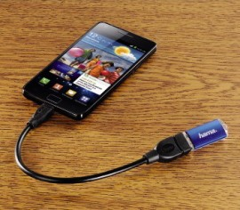 Slika Hama USB 2.0 Micro 5-pin to USB Female OTG Data Host Cable (za mobilni telefon/tablet)