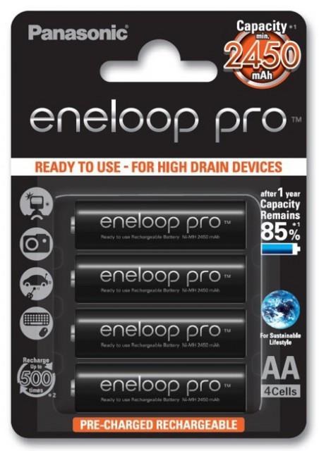 Slika Panasonic Eneloop Pro 4xAA BK-3HCCE 2550mAh