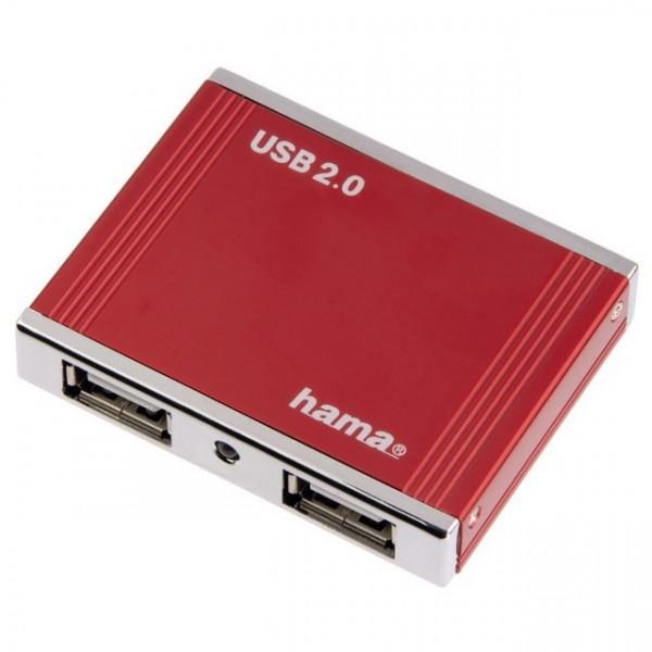 Hama ALU 4-port USB Hub (aluminijum, 4 x USB)