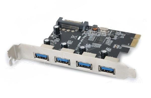 Slika ULANSON 4 Ports USB 3.0 PCI-E Express Card (SATA Powered)