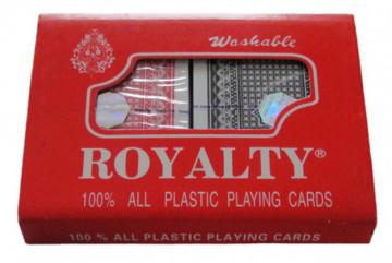 2 x ROYAL 100% Plastic Washable Playing Cards (100% Plastične, Perive, Karte Za Igru, 2 Špila)