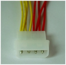 4 x 3-pin to 4-pin (Molex) Fan Adapter Power Cable (5V/12V)