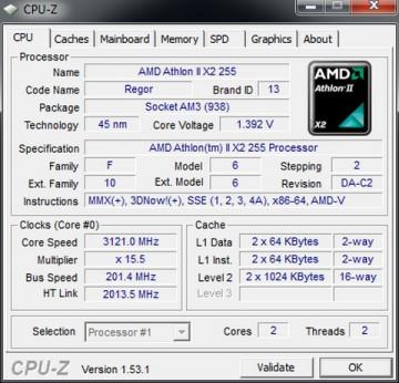 AMD Athlon II X2 255 3.1GHz 2MB AM3 BOX
