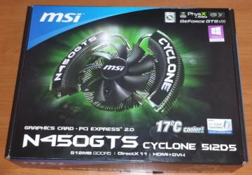 MSI GTS 450 Cyclone 512MB DDR5 128bit HDMI PCI-E