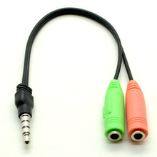 3.5mm Audio Splitter Cable Adapter Male to Dual Female (Kombinovani audio ulaz za mikrofon i slušalice)