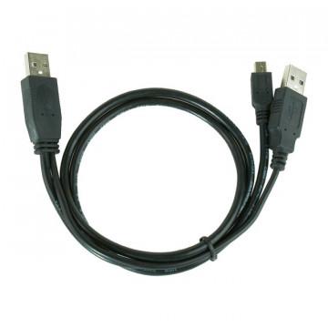 Gembird Mini USB Y-Cable 90cm