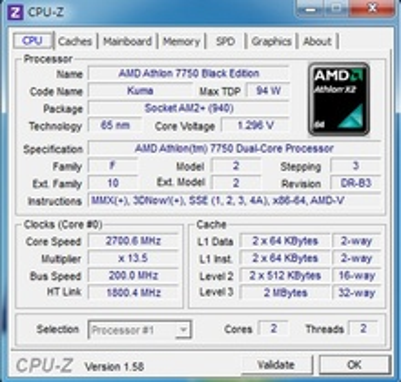 AMD Athlon 64 X2 7750 BE 2.7GHz 3MB L3 AM2+ BOX