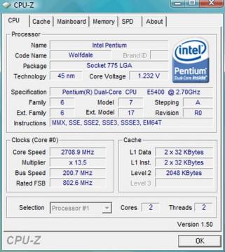 Intel Pentium Dual-Core E5400 2.7GHz 2MB LGA775 BOX