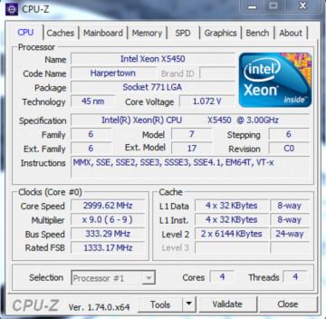 Intel Quad Core Xeon X5450 3.0GHz 12MB LGA775 BOX