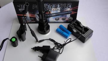 POLICE CREE XQ-Q2818-3xT6 LED Baterijska Lampa 30000W (lovački set)