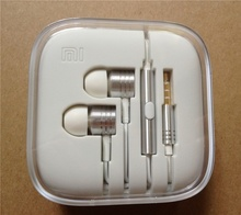 XIAOMI Genuine Piston 2 Silver 3.5mm In-ear Stereo Earphone with Mic Control