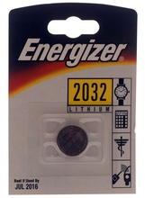 Energizer CR2032 3V Lithium Battery (Made in Switzerland)