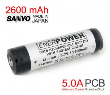 Enerpower 2600mAh 18650 Li-Ion PCB Protected