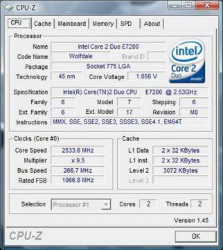 Intel Core™2 Duo E7200 2.53GHz 3MB LGA775 BOX