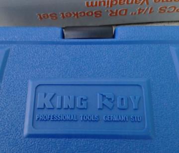 """KingRoy Germany - Profesionalni komplet 1/4"""" gedora iz 19 delova u koferu"""