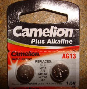 2 x Camelion Plus Alkaline LR44/AG13 Battery (2 komada)