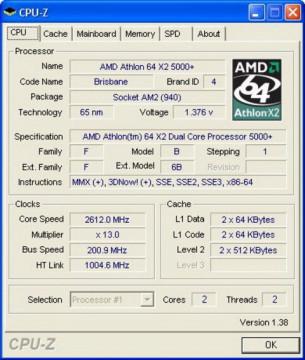 AMD Athlon 64 X2 5000+ 2.6GHz 1MB AM2 BOX