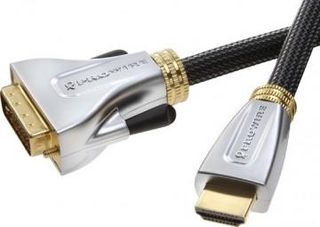 Vivanco ProWire AV cable, HDMI - DVI-D connector 1.5m
