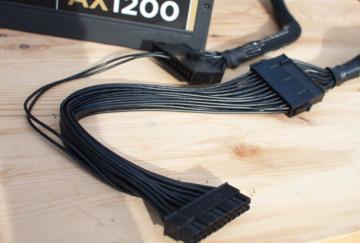 Dual PSU 24 Pin ATX Extension Splitter Cable (30cm)