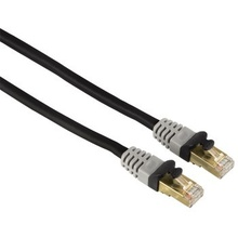 Hama CAT 6 Gigabit Network STP Cable 5m (gold-plated, shielded, grey)