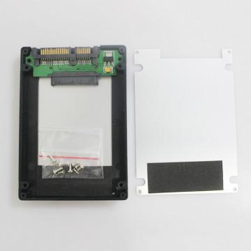"""1.8"""" mSATA to 2.5"""" SATA HDD Enclosure (Black)"""