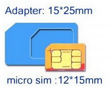 Micro SIM Card to Standard SIM Card Adapter (3 komada)
