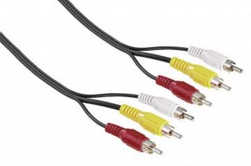 Hama Premium 3 RCA Plugs - 3 RCA Plugs Video Cable 2m